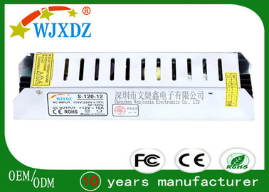 CE & ROHS Certified 12V 120W IP20 LED Strip Power Supply for Communication