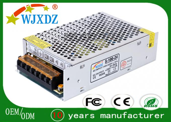 IP20 Constant Voltage Cctv Camera Power Supplies 100W 24V Long Life Span